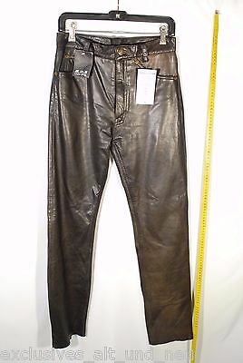 echt Leder Damen Hose Größe S real leather Lederhose Damenhose 7123-S