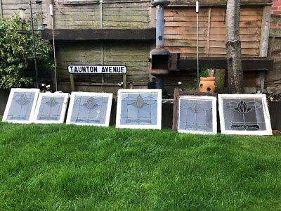 6 Original 1930'S Staines Glass Window Sashes