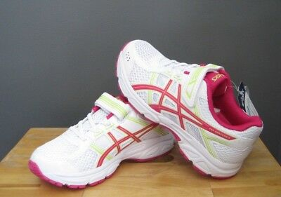 Asics Little Kid Girl White / Pink / Green Pre Contend 4 PS US 1, 1.5 NWOB