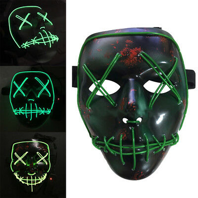 The Purge Election Year LED Light Up Mask Festival Halloween Costume Props Decor