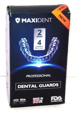 MaxiDent Dental Guads 2 Sizes 4 Guards Included BRAND NEW FREE SHIPPING! THANKS!