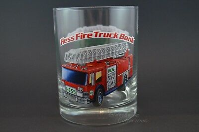 Hess Truck Glass Red Fire Bank 96 Classic Series Vintage Collector