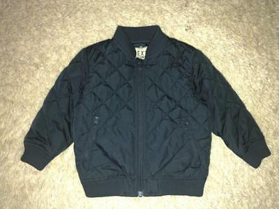 NEXT 2017 Toddler Boys Quilted NAVY Blue Bomber Jacket 12-18 Months - Immaculate