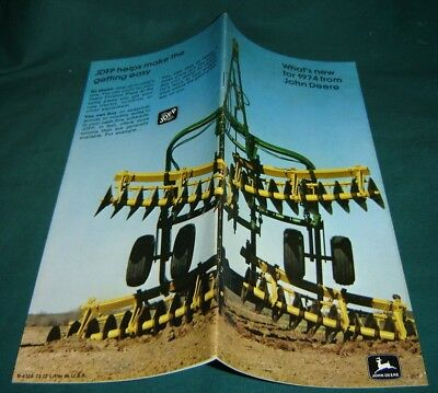 John Deere BROCHURE 1974 New Equipment Tractors Discs & Other Items