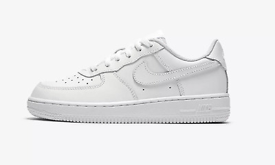 NIKE AIR FORCE 1 PS # 314193 117 White Low Pre School Little