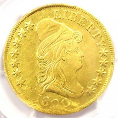 1800 Capped Bust Gold Eagle $10 Coin - Certified PCGS AU Details - Rare!