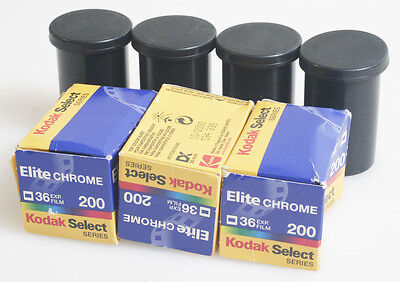 Kodak Ektachrome/Elite Chrome 35Mm Color Slide Film 200 Asa/Iso Pack Of 7 Expire