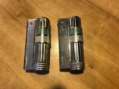 Lot of 2 Vintage Imco Super Triplex Lighters Made in Austria not China Used