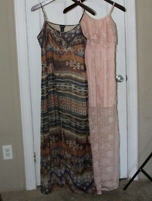 Maxi Dress | Lot 2| Pink Size S & Tribal Print Size L