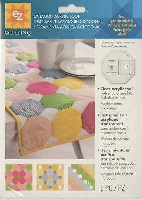 Octagon Template Ez Simplicity Acrylic Tool Quilting,craft, Patchwork Brand New