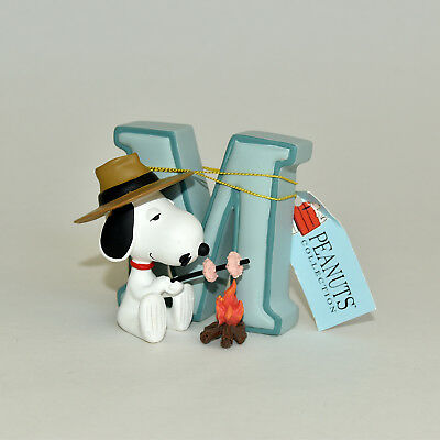 Snoopy's Brother Spike w Marshmallow Letter M Figure Peanuts Collection Westland