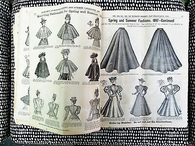 1897 FASHION CATALOG of HALE BROTHERS, SAN FRANCISCO Corsets, Capes, Gowns, &c.