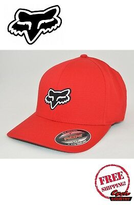 sale retailer 5f3ec 930ff ... coupon fox racing brand flexfit hat adult legacy logo red new free  shipping a037d 9927f
