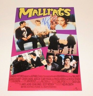 DIRECTOR KEVIN SMITH SIGNED 'MALLRATS' 12x18 MOVIE POSTER PHOTO w/COA PROOF