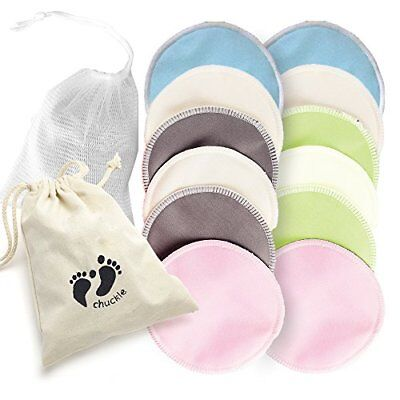 12 Pack Premium Quality, Organic Bamboo Nursing Washable Breast Pads – Include