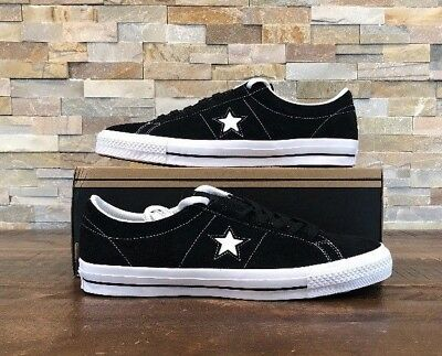 db215c88c55f Converse One Star Mid Black Ivory Suede Men Skate Boarding Shoes 149908C