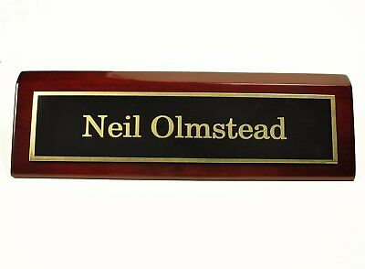 Rosewood Desk Name Plate