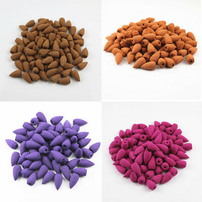 20pcs Natural Smoke Tower Bullet Incense Home Fragrances Hollow Cones Lavender