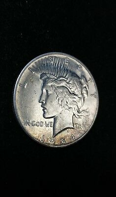 1934 S Peace Silver One Dollar S$1 Coin | KEY DATE XF-AU Details