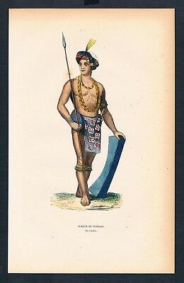 1840 - Tondano Indonesien Indonesia Asien Asia costumes Trachten antique print
