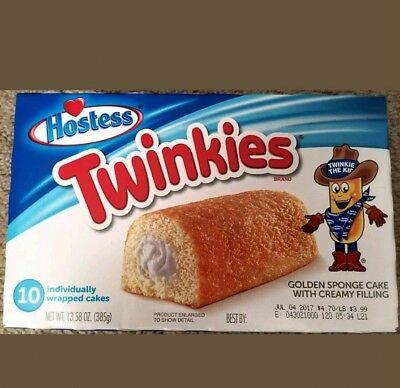 NEW HOSTESS USA Twinkies 10 Count Free Worldwide Shipping