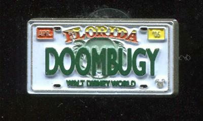 WDW Cast Lanyard Collection 4 License Plates DOOMBUGY Disney Pin 51142