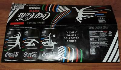 2016 USA COCA-COLA ZERO BRAZIL OLYMPIC GAMES EMPTY 12-PACK 12oz CAN CARTON