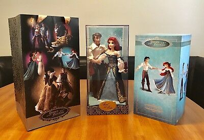 Disney Fairytale Designer Collection Ariel and Eric Couple Dolls Limited Edition
