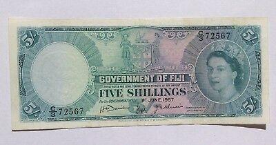 BRT Government of Fiji 5 Five Shillings 1957