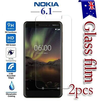 2X Nokia 6.1 Tempered Glass / Clear & Matte Pet LCD Screen Protector Film Guard