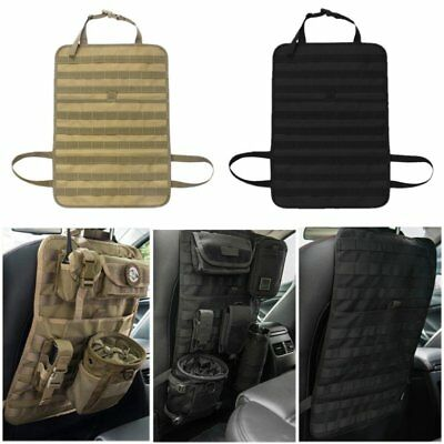 1000D Tactical Car Seat Back Organizer Molle Vehicle Cover Protector Univesal