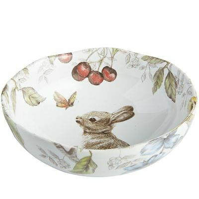 """PIER 1 Imports Sofie the Bunny Soup Bowls set of 2 Easter Spring 6.5"""" pier1"""