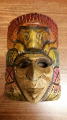 collectibles hand curved wooden mask Belizean