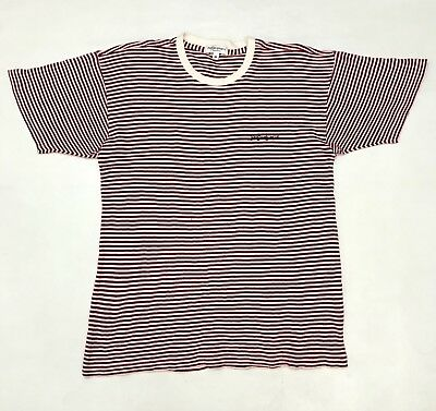 YSL Yves Saint Laurent Stripe T Shirt Red White Size M Men Guess Hang Ten