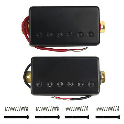 Set of LP Style Electric Guitar Humbucker Pickups Neck & Bridge Pickups Black