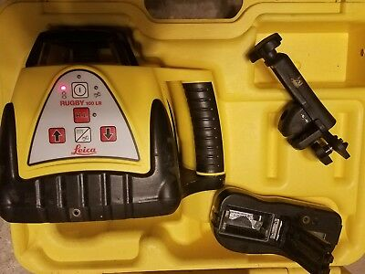 Leica Rugby 100 LR rotary laser, remote, charger and case
