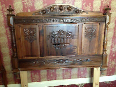 Antique ornate french Bed headboard.