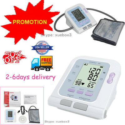 LCD Digital Blood Pressure Monitor Heart Rate Beat Pulse Meter Measure,Promotion