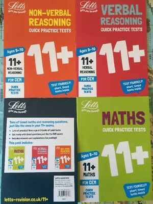 Letts 11+ plus Books Quick Practice Tests 9-10 Years 3 New Books CEM Success