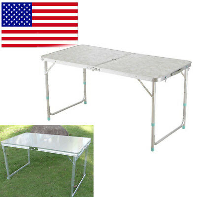 Portable 4' Folding Table Plastic Indoor Outdoor Picnic Party Dining family Camp