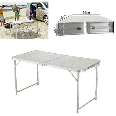 US 4' Folding Table Portable Plastic Indoor Outdoor Picnic Party Dining Camp BBQ