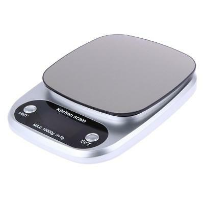 10kg/1g Electronic Digital Kitchen Scale Food Weight Stainless Steel LCD Display