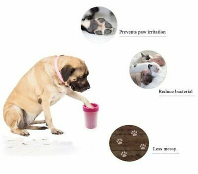 Portable Pet Paw Plunger Mud Cleaner Washer Mudbuster Dog Cat Pet Paw S/L Size