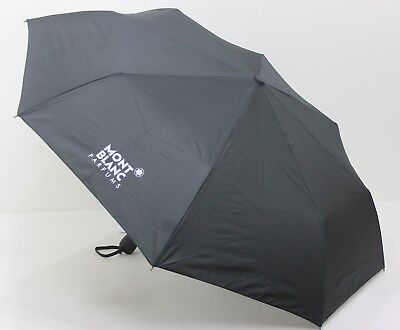 Mont Blanc Black Umbrella Unisex Fold up , Automatic Open , Fits in bag
