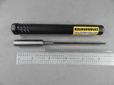 "Guhring 3.0mm 0.118"" Solid Carbide Bright Finish Single Flute Gun Drill135mm OAL"