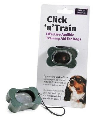 Clicker training device, dog, puppy training, sharples n grant click n train
