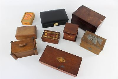 Lot of 9 x Vintage WOODEN Trinket Boxes Mixed Designs&Styles