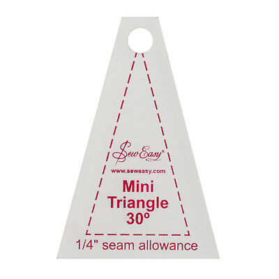 """SEW EASY MINI 30 DEGREE TRIANGLE TEMPLATE 1.7""""x 2.5"""" PATCHWORK quilting sewing"""