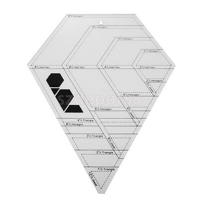Diamond.hexagon Triangle Like Hex N More Quilting Template Patchwork Ruler Bnew