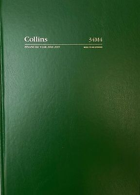 2018 2019 Collins A4 Week to View WTV Financial Year Diary Hardcover Green 34M4